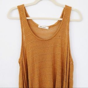 Mustard Knitted Boutique Tank